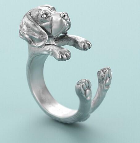 Кольцо для собак в стиле хип хоп регулируемое кольцо с гончей