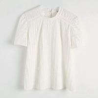 Women White Shirt Hollow Sleeve Blouses Summer O Neck Casual Korean Female Shirts Spring Loose Ladies Tops Shirt