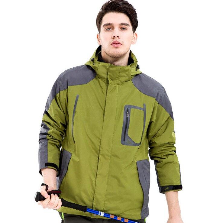 Outdoor Men Jacket Two Pieces Camping Trip Trekking Coat Ski Skiing Fishing Climbing Windproof Waterproof Warm Windbreaker