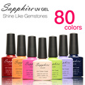 Hot Sale Sapphire Soak Off UV LED Nail UV Gel Polish 80 Colors Nail Tools Nail Ge Nail Gel Polish