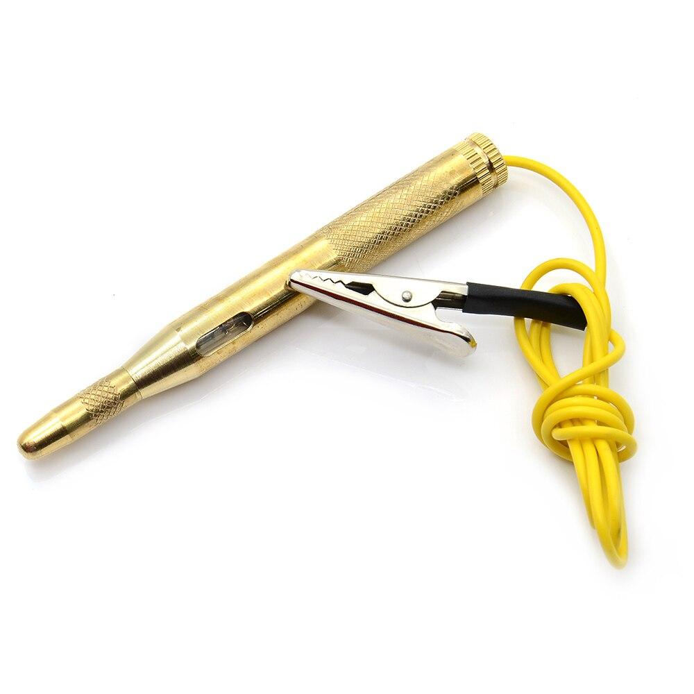 DC 6 в 12 В 24 В зондовый светильник, испытательный зонд, лампа для авто, светильник для проверки цепи er, лампа для проверки напряжения, ручка, детектор меди - Цвет: Gold