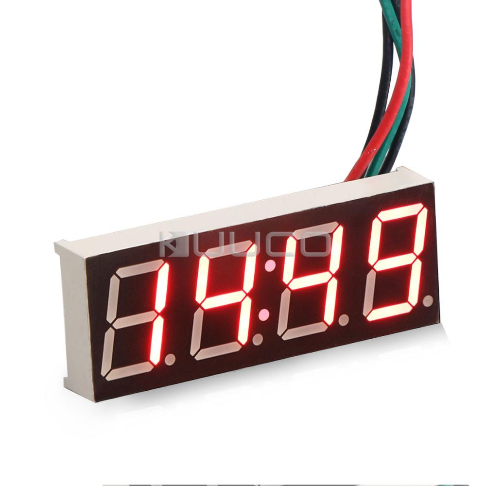 Digital Clock Adjustable Car Clock Red Led display Digital Meter/Panel Meter DC 12V 24V DIY Time Monitor/Tester digital tester 3in1 multifunction temperature humidity time lcd display monitor meter for car indoor outdoor greenhouse etc