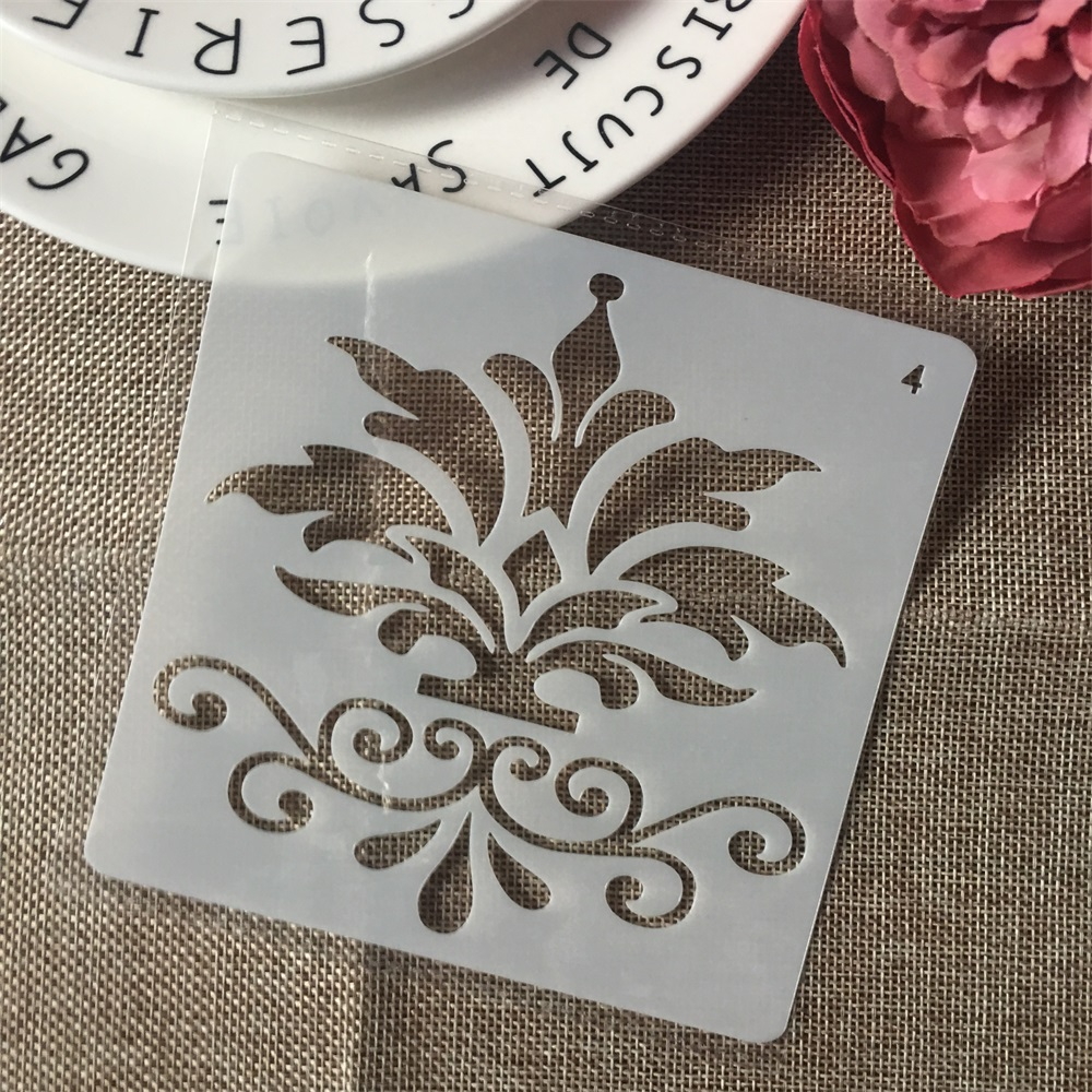 1Pcs 13cm Floral DIY Layering Stencils Wall Painting Scrapbook Coloring Embossing Album Decorative Card Template