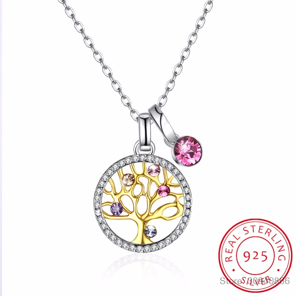 925 Sterling Silver Tree of Life Pendant Necklace Chain Jewellery