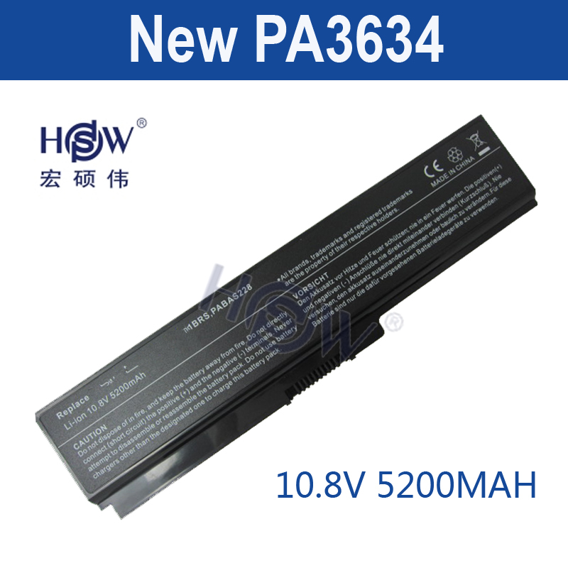 HSW 5200mAh 6 cells laptop battery for toshiba Satellite A665D C640 C640D C645D C650 C655 C655D C660 C660D NOTEBOOK BATTERY akku wholesale v000225020 laptop motherboard for toshiba c650 c655 100