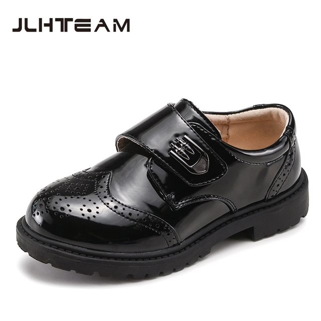 Kids Boys Leather Shoes for Soft Leather Shoes Black White Color Children's Chaussure 2017 New Fashion Kids School Shoes Boys