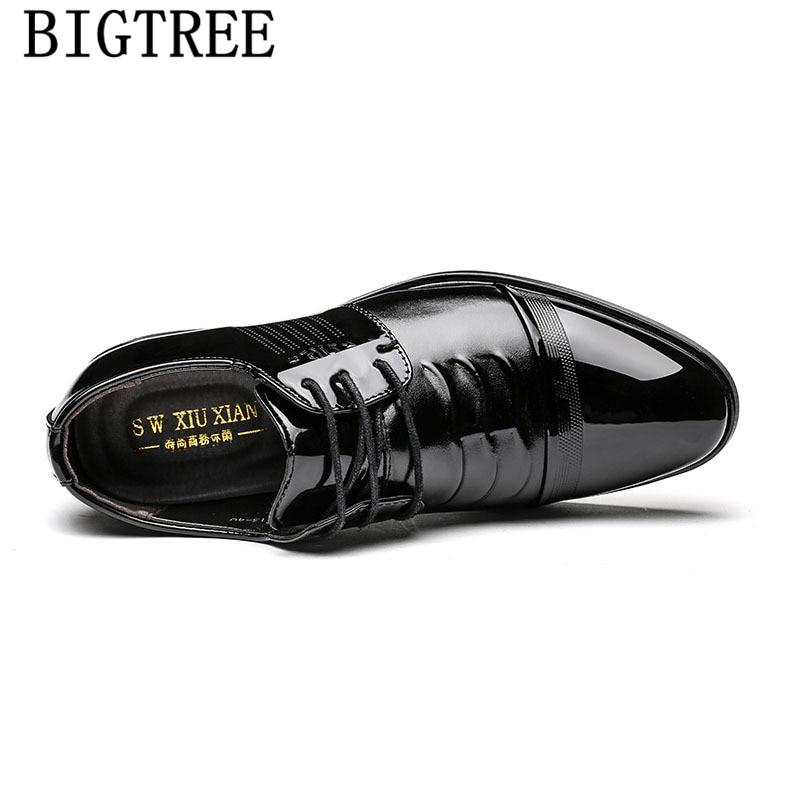 Vestir Zapatos De Formelle Noir Hombre Sociale Habillées Oxford Herrenschuhe Chaussures En marron Cuir Sapato Hommes Pour Bureau Verni qp8vP0