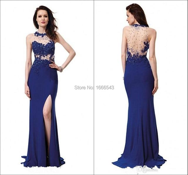 d1042ed2b Vestidos de fiesta azul electrico 2016 - Vestido azul