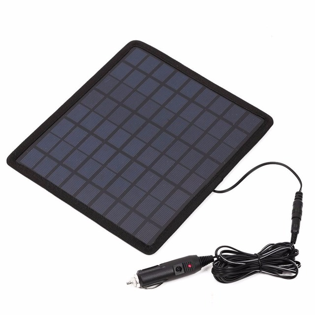12V 5W Solar Charging Board Polysilicon Chargers Battery Portable Consumer Electronics For Car Boat Automobile Outdoor Travel