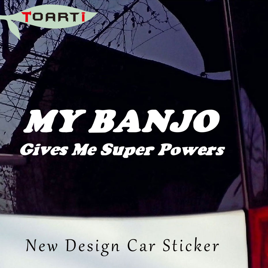 My Banjo Gives Me Decal Word Car Sticker Decor Accessories Bluegrass Strings Country Mus ...