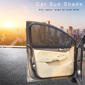 Image 2 - الصيف سميكة شبكة سيارة مظلات سيارة ستارة مغناطيسية الشمس الظل الأشعة فوق البنفسجية حماية شبكة نافذة جانبية الشمس