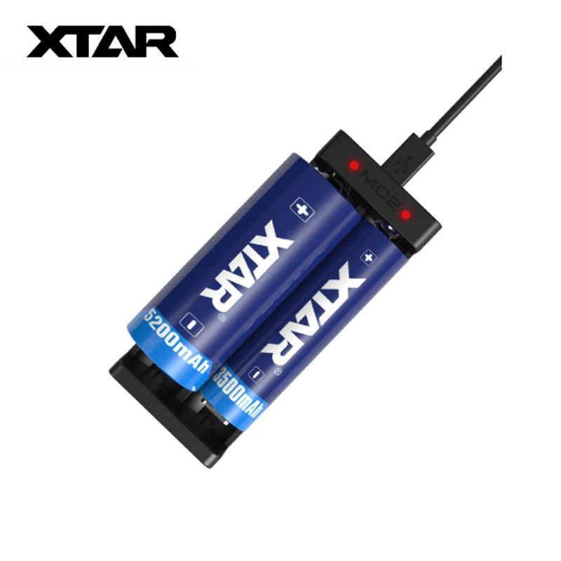 الأصلي XTAR MC2 USB بطارية ليثيوم أيون شاحن يو اس بي 3.7V ل 18650 20700 21700 14500 16340 10440 26650 بطاريات المرذاذ Vape