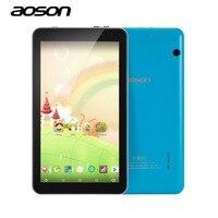 Educação comprimidos AOSON M753 7 polegada Colorido android Tablet PC Android 6.0 16 GB ROM Quad Core Tablet HD IPS1024 * 600 Do Bluetooth