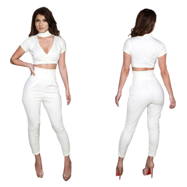 Collection White Pants Jumpsuit Pictures - Reikian