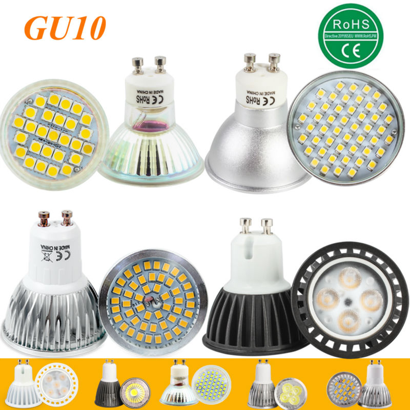 1pcs Super Bright 3W 4W 5W 6W 7W GU10 LED Bulb Spot Light Lamp 110V 220V Dimmable GU10 SMD 5050 2835 Lighting Warm Cold White gcd m5 gu10 5w 220lm 2500k 46 x smd 2835 led warm white light car lamp ac 220 240v