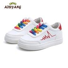 Ragazzi Primavera Scarpe Bianche Per Bambini Gli Studenti di Sport scarpe Da  Tennis Delle Ragazze Arcobaleno 9af368dee58