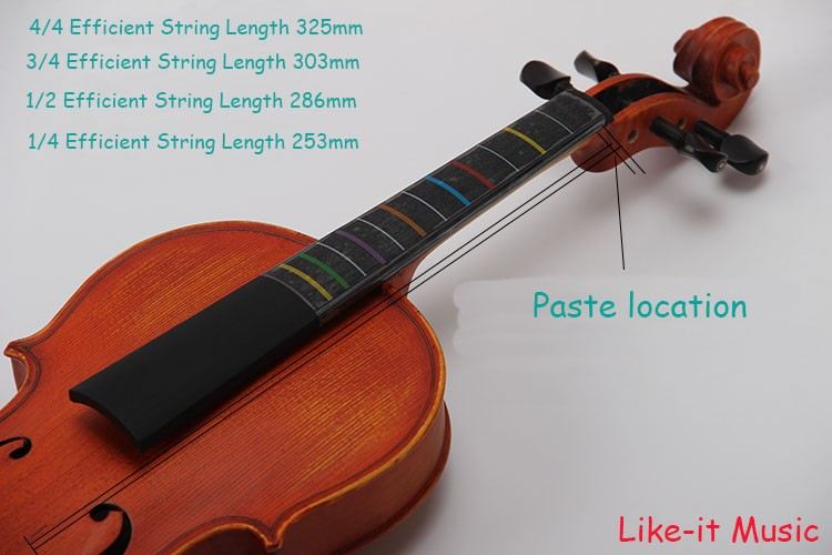 Beginners Violin Fiddle Fingerboard Fret Guide Label Finger Chart 4