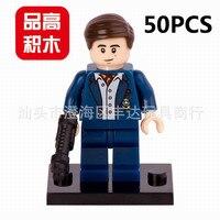 Lepin Pogo Bela Wholesale 50PCS PG078 Batman The Avengers Marvel DC Super Heroes Building Blocks Bricks