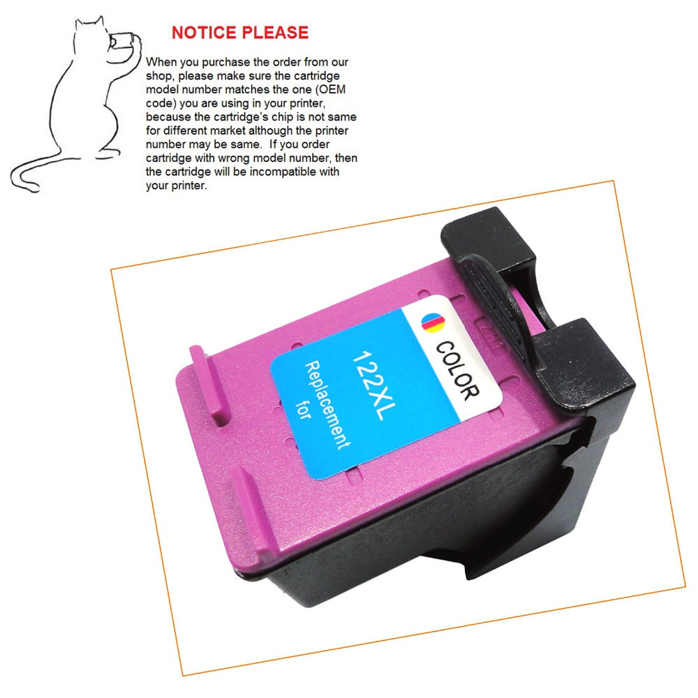 1pcs Color Remanufactured ink cartridge for HP122 HP122XL HP 122 for HP DeskJet 1050 2050 2050s