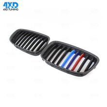 цена на F07 GT Grill For BMW Carbon ABS Front Bumper Front Grille Gloss Black Single Slat 3 Color 2010 2011 2012 2013 2012 2014 2015