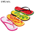 Uwback 2016 New Brand Summer Flip Flops Women Print Cute Fruit Plus Size Casual Sandals Comfort Flat Beach Slippers Mujer XJ127