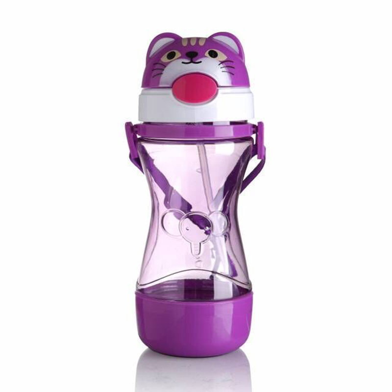 450ML Baby Cartoon Drink Water Straw Cup Kids Cute Juice Training Bottle Cups Infant Children Learn Drinking Bottles MY0034