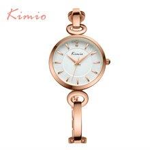 2016 Nueva Kimio lujo ultra delgado Top brand cuarzo de Las Mujeres del Vestido Elegante de Las Señoras relojes pulsera relojes de pulsera con caja de Regalo