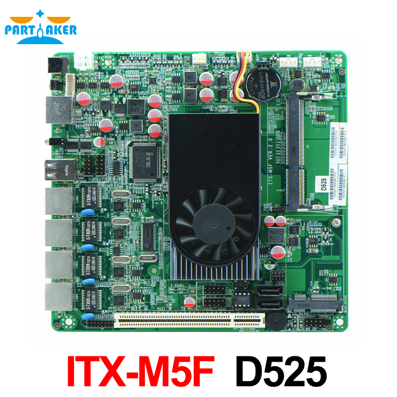 ITX-M5F industrial motherboard for firewall with 4 lan ports