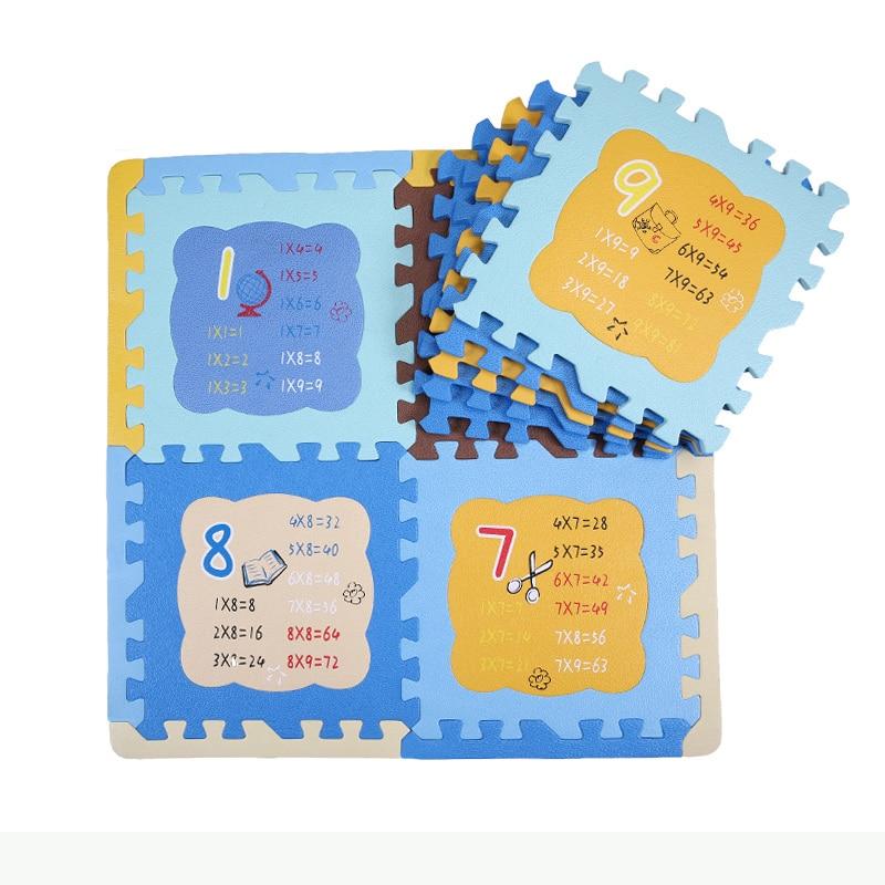 9 Stks Multiplicatie Math Baby EVA Zachte Schuim Puzzel Speelkleed - Speelgoed voor kinderen