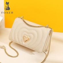 FOXER Chic Female INS Fashion Women Crossbody Bag Skin Messenger Bags Elegant Lady Love Flap Bag Valentine's Day present
