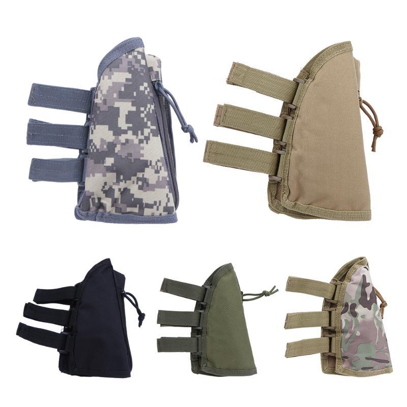 Tactical Rifle Butt Stock Cheek Rest Shell Ammo Pouch Bag