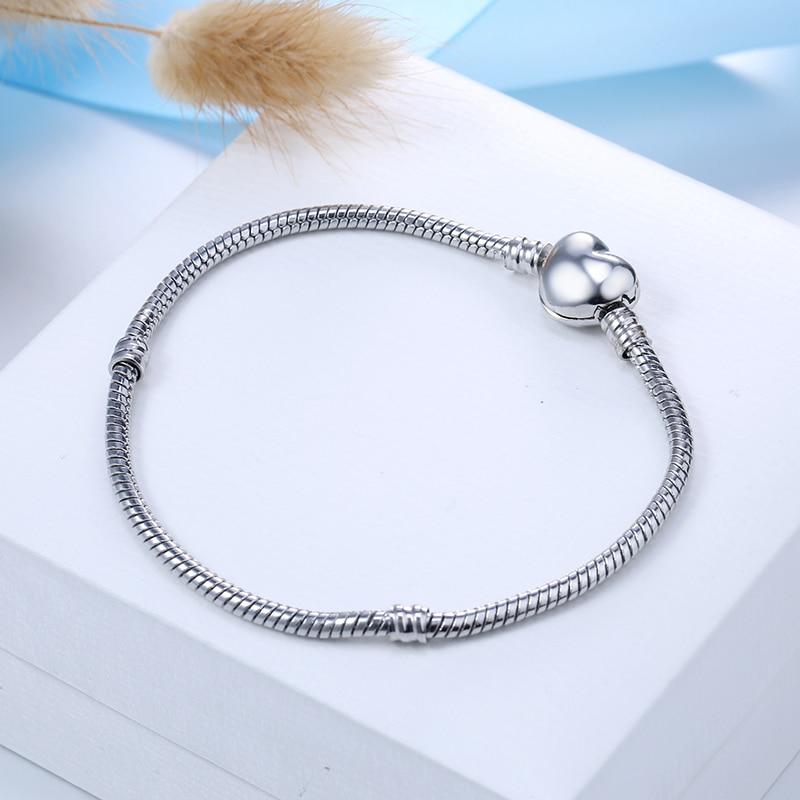 New Original Charm Bracelet Rose Gold Silver Color Alloy Snake Chain Basic Bracelets For Fashion Women Bead DIY Jewelry Dropship