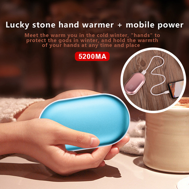 5200mAh 5V Cute  USB Rechargeable LED Electric Hand Warmer Heater Travel Handy Long-Life Mini Pocket Warmer Home Warming Product