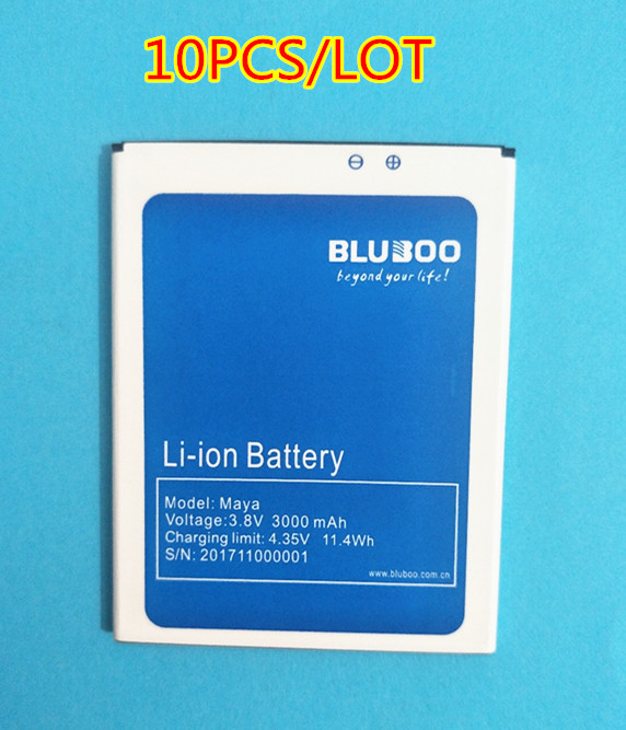 AZK 10PCSLOT New Replacement 100% High quality 3000mAh Back up Battery for Bluboo Maya Mobile Phone battery + In Stock