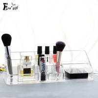 Exquisite Crystal Acrylic Makeup Lipstick Organizer Cosmetics Transparent Make Up Box Skin Care Products Holder