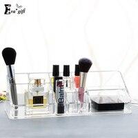 Exquis Cristal acrylique maquillage rouge à lèvres organisateur cosmétiques transparent make-up boîte soins de La Peau produits titulaire