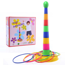 Baby Throwing Ring Game Outdoor Indoor Playing Sports Fun Toy Ferrule Family Activity
