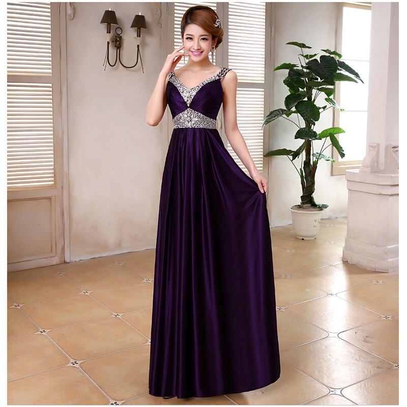 Aliexpress.com : Buy PotN'Patio Elegant Purple Evening Dress Long ...