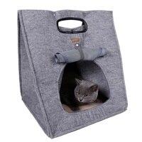 Dog Beds/Mats 2018 Hot Pet Dog Warm Foldable Sleeping Bag Bed Dog Kennel Cat Bed Cave Novel Modern Fashion Drop shipping