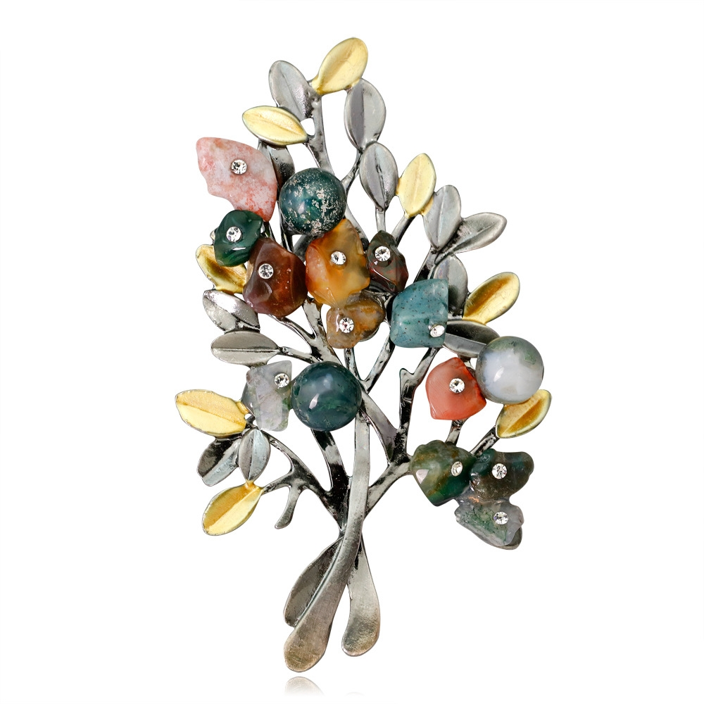 Elegant Enamel Animal Flower Fruit Corsage Costume Brooches Pins Lady Jewelry