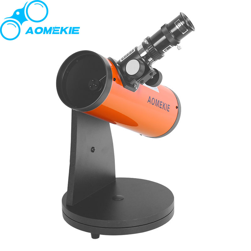 AOMEKIE Reflector Astronomical Telescope 15X-100X Protable HD Tabletop Terrestrial Space Monocular Telescope Moon Watching free delivery children with monocular space telescope 600 50mm