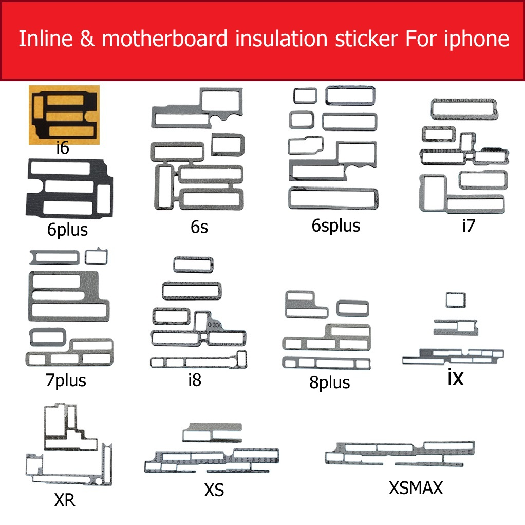 Inline&Motherboard Adhesive Stickers Insulation For Iphone 6 6s 7 8 Plus X XS MAX XR Mainboard Protect Usage Insulation Stickers
