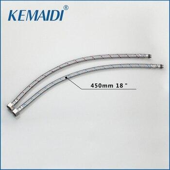 KEMAIDI nueva manguera moderna dos piezas de cocina de agua caliente y Fría/baño de acero inoxidable para grifo mezclador 6000