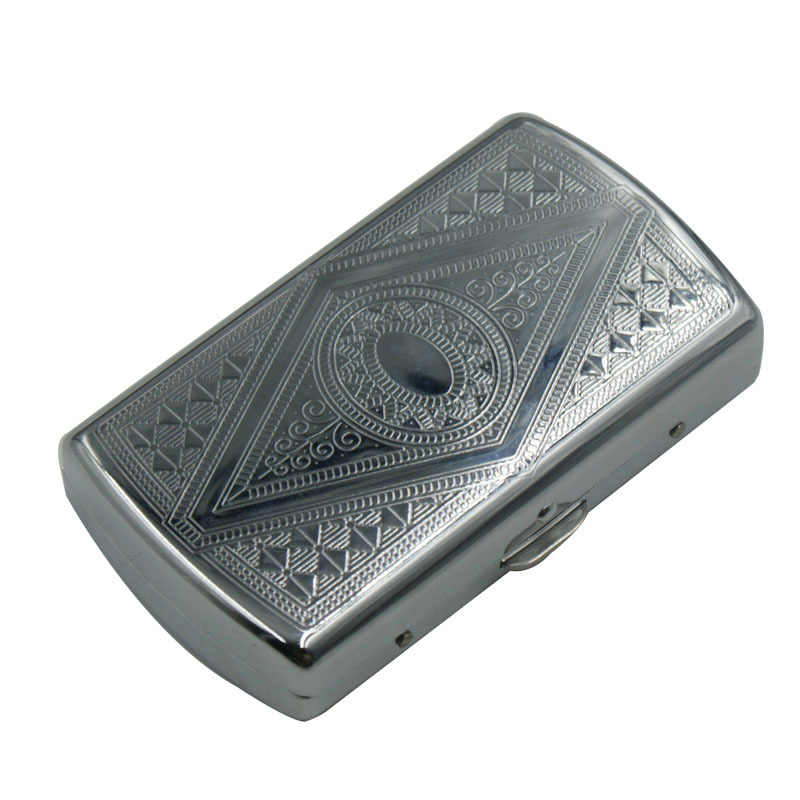 Cigarette Accessories Tobacco Box Storage Pocket Size  Cigarettes Case For  Papers Holder Tobacco Tin Pattern Rand 3618