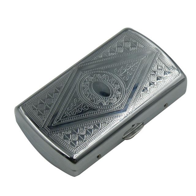 portador Accesorios para tabaco caja de almacenamiento de bolsillo caja de cigarrillos para soporte para papeles patrón de lata de tabaco