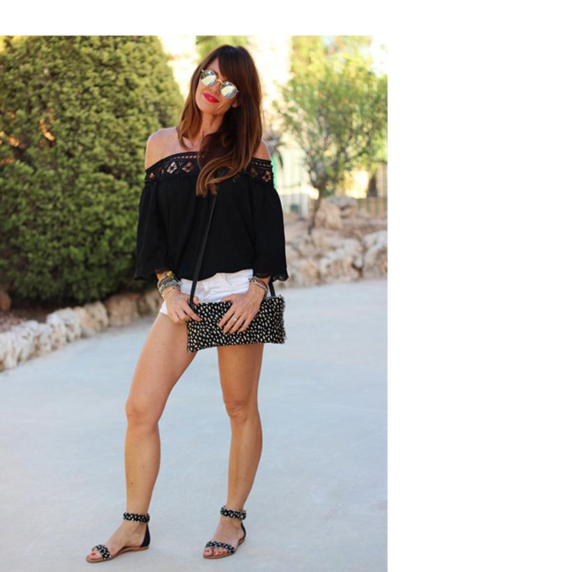Off Shoulder Sexy Women Blouses White Lace Patchwork 2017 Summer New Arrival Slash Neck Ladies Chiffon Shirts Plus Size Tops 2XL 6
