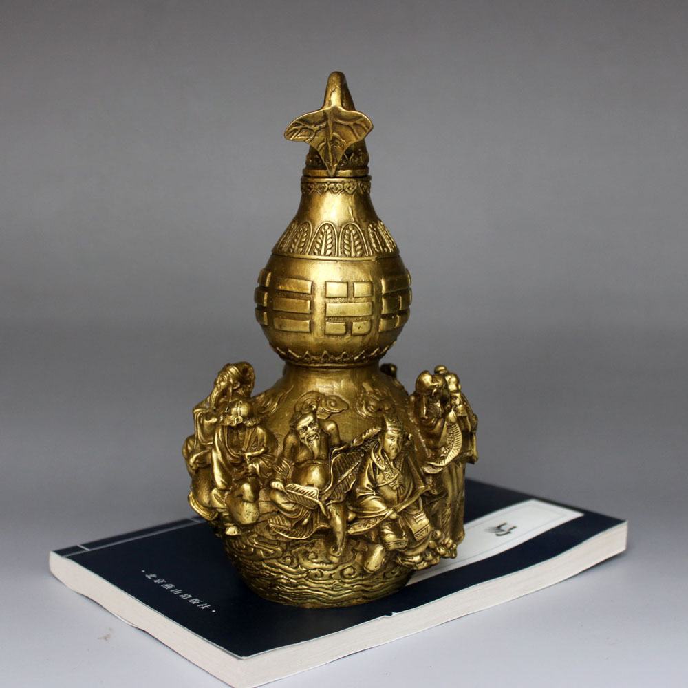 online get cheap feng shui health aliexpress com alibaba group free shipping brass feng shui gourd with eight immortals for health enhance fengshui china