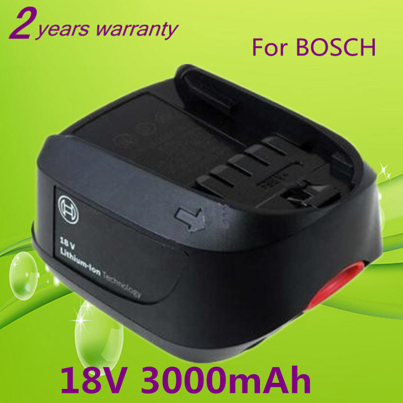 new 18v 3 0ah li ion replacement power tool battery for bosch psr 18 li 2 2 607 336 039 2 607. Black Bedroom Furniture Sets. Home Design Ideas