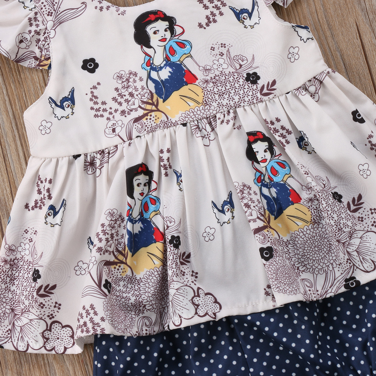 Print Cartoon Character Snow Newborn Clothes Baby Girl 2pcs Set Summer Sleeveless T Shirt Dress Dot Shorts Outfits in Clothing Sets from Mother Kids