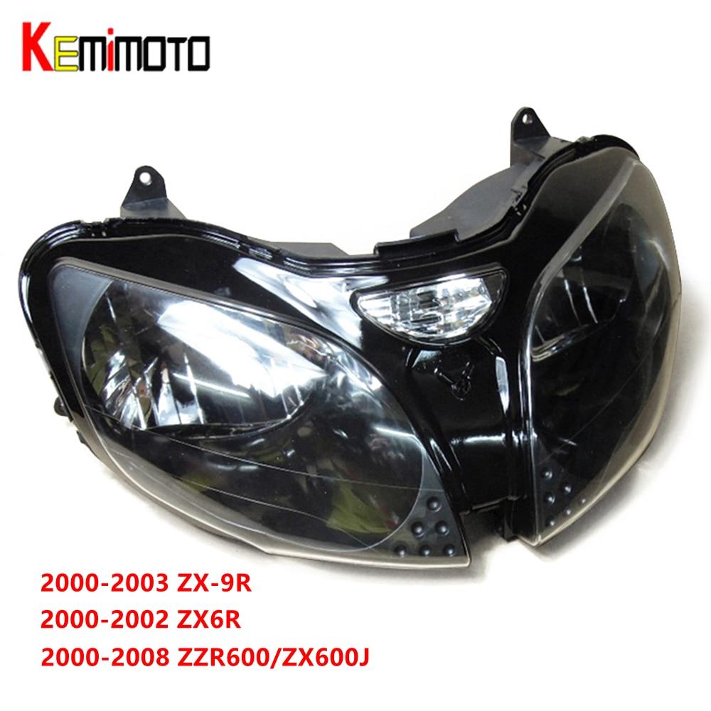 कावासाकी NINJA ZX6R ZX-6R 2000-2002 ZX9R ZX-9R 2000-2003 ZZR600 2005-2008 फ्रंट हेड लाइट हाउसिंग के लिए मोटरसाइकिल हेडलाइट